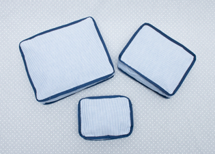 Navy Nesting Pouches (Set of 3)-