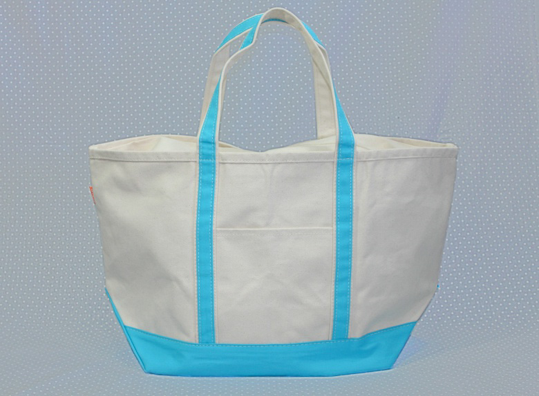 Aqua Large Canvas Tote-Tote