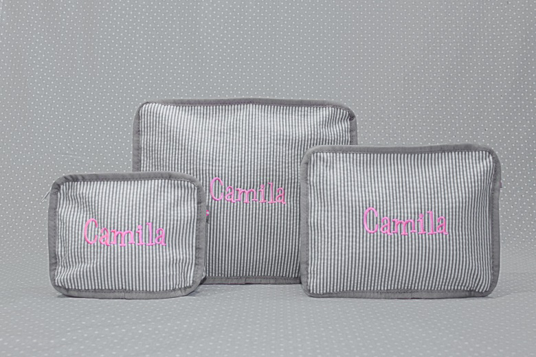Grey Nesting Pouches (Set of 3)-