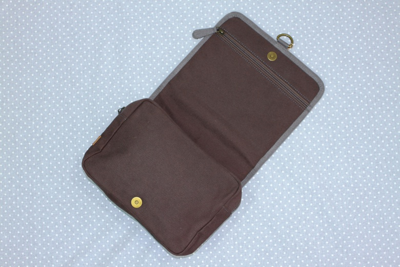 Chocolate Hanging Toiletry Bag-