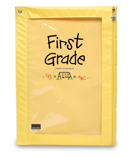 Yellow First Grade Paper Pouch-First Grade Paper Pouch