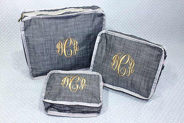 Chambray Nesting Bags (Set Of 3)-Nesting Bags