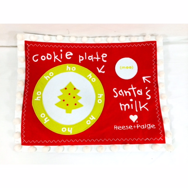 Cookie Placemat for Santa-Cookie Placemat for Santa